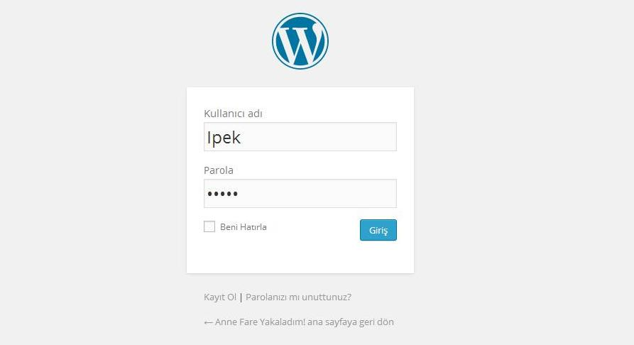 wordpress signin