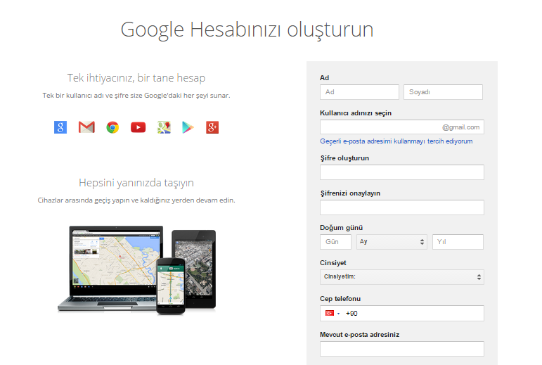 google_hesabı