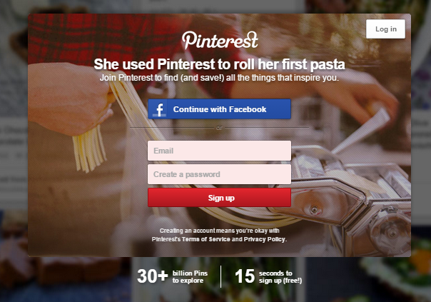 pinterest sign in