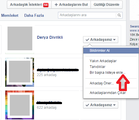 facebook arkadaş