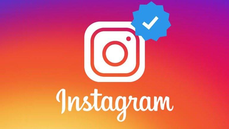 instagram logosu ve mavi tik ikonu
